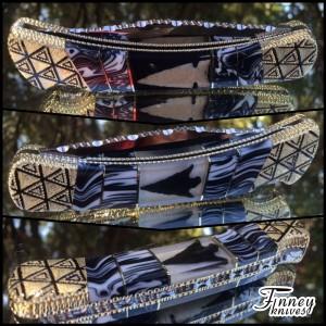 Custom Buck 110 with genuine Indian arrowheads