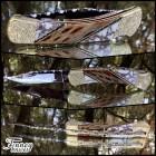 Custom Buck 110 Cholla Cactus File worked Spacers with Diamond Basket weave Sheath