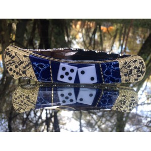Custom Buck 110 with genuine dice and sodalite inlay prototype
