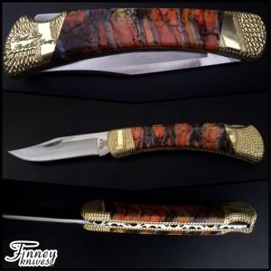 Custom Buck 110 with mammoth tooth - custom ordered