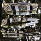 Custom Buck 110 with Abalone and Recon Black and White Mop Prototype