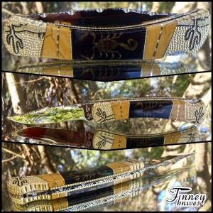 Custom Buck 110 Scorpions with Honey Jasper inlay Prototype