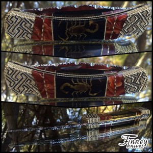 Finney Vault - Custom Buck 110 Genuine Scorpions with Mexican Agate inlay Prototype