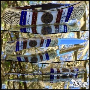 Custom Buck 110 with genuine WW2 US Army GI Uniform Brass Eagle Buttons Prototype