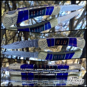 Custom Buck 110 with Genuine WW2 American Campaign ribbons and Azurite Web inlay Prototype