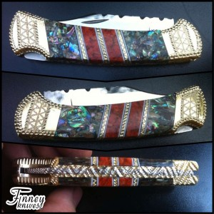 Custom Buck 112 with Apple Coral and Abalone