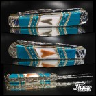 Case xx Trapper with genuine neolithic arrowheads from Africa inlaid with banded Chrysocolla 1 of 1
