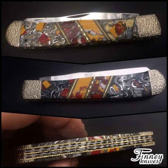 Custom Case XX Trapper CV with Mookite and Aluminum shavings proto