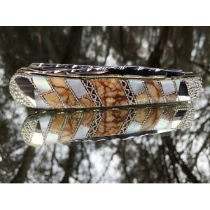 Finney Vault - Custom Case XX Trapper with Tiger Coral and Mother of Pearl Prototype