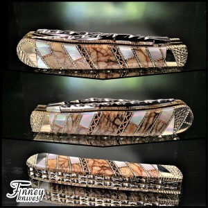 Custom Case XX Trapper with Tiger Coral and Mother of Pearl Prototype