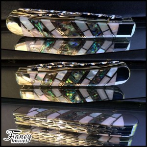 Case XX Trapper Prototype with pink pearl - abalone - mother of pearl