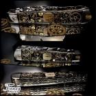 Case XX Trapper vintage watch parts black background