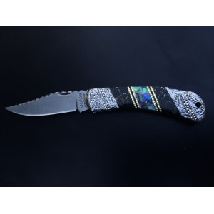 Custom Kershaw Grant County - Genuine Abalone and Aztec Gold