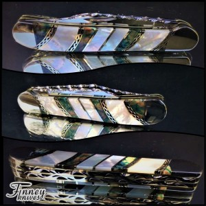 Finney Vault - Custom Case XX 2007 Copperhead with mammoth tooth and pearl 1 of 1