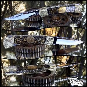 Finney Vault - Custom Buck 110 Vintage Watch Parts Black Background