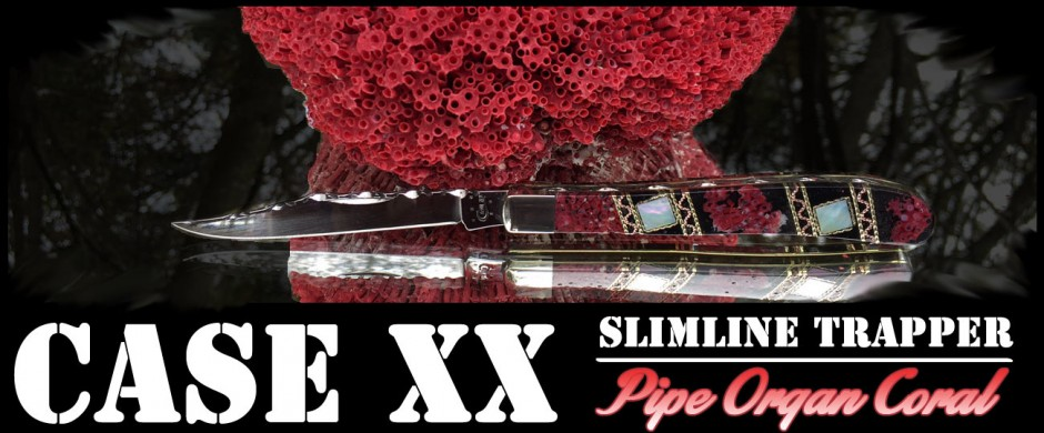 Case xx Slimline Trapper with Pipe Organ Coral