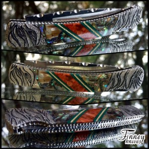 Custom Buck Prince with Abalone and Apple Coral