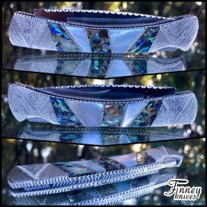 Custom Buck 503 Prince with Abalone and Mother of Pearl nickel silver spacers