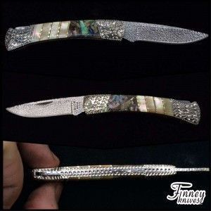 Custom Buck 503 Prince with Gold Lip Mother of Pearl and Abalone Inlay