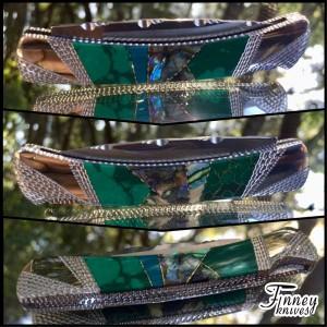 Custom Buck prince 503 with abalone - jade - mammoth tooth - banded malachite