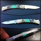 Custom Buck 505 Knight with Lab Opal and Abalone