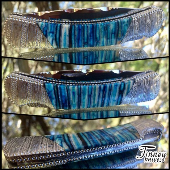 Custom Buck 500 Duke with Blue Mammoth Tooth one of a kind