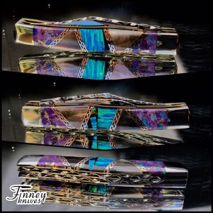 Case xx Large Texas Jack with blue opal matrix - purple mojave - black pearl 1 of 1