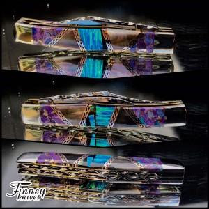 Case xx Large Texas Jack with blue opal matrix - purple mojave - black pearl 1 of 1