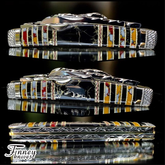 Case xx Large Congress 88 Pattern with silver sabre tooth tiger inlay 1 of 1