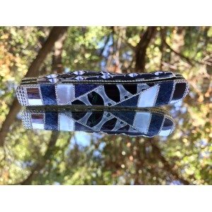 Custom Case XX Mini Trapper with Shark Spine Center - Mother of Pearl - Fossil Coral Prototype