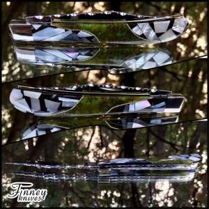 Custom Case XX Slimline Trapper with genuine mother of pearl matrix and alder cones prototype