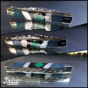 Case XX texas jack knife with fossil coral- pearl - malachite web circle 1 of 1