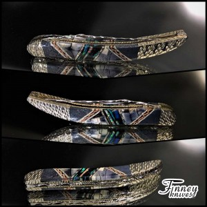 Case XX tiny toothpick with genuine blue ridge coral inlaid with mammoth ivory and opal 1 of 1