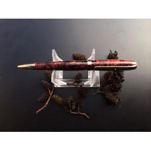 Custom Graduate Style Pen with Alder Cones cast in Deep red Crush