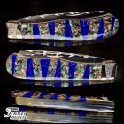 Remington 2012 - 30th anniversary Barehead Trapper Blue stone orange matrix with abalone 1 of 1