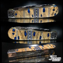 Remington 2012 - 30th-anniversary Barehead Trapper Cholla Cactus in electric blue southwest motif