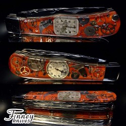 Remington 2012 - 30th anniversary Barehead Trapper Steampunk orange Background