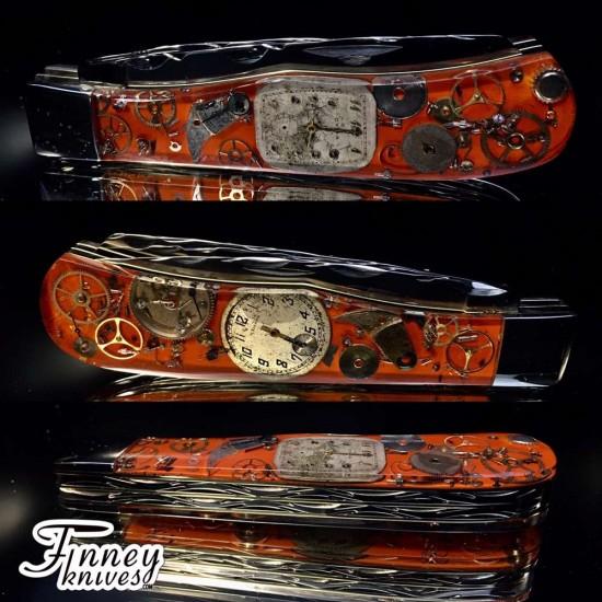 Remington 2012 - 30th anniversary Barehead Trapper Steampunk orange Background